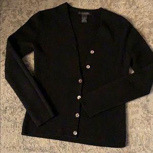 Black button down sweater/cardigan